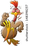 big and nice chicken doing his... | Shutterstock .eps vector #148398257