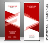 roll up banner stand template... | Shutterstock .eps vector #1483987181