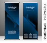 roll up banner stand template... | Shutterstock .eps vector #1483987211