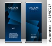 roll up banner stand template... | Shutterstock .eps vector #1483987217