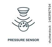 pressure sensor outline icon.... | Shutterstock .eps vector #1483987934