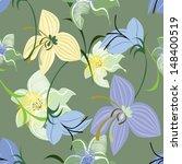 vector seamless pattern floral   Shutterstock .eps vector #148400519