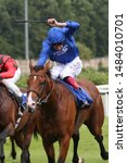 Small photo of NOTTINGHAM RACECOURSE, NOTTINGHAM, UK : 19 JULY 2019 : The Godolphin owned Visible Charm ridden by Adam Kirby winning the 6f Maiden Stakes at Nottingham Races