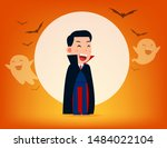 cute dracula character with old ...   Shutterstock .eps vector #1484022104