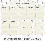 Weekly Planner Page Template...