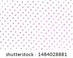 light pink vector texture with... | Shutterstock .eps vector #1484028881