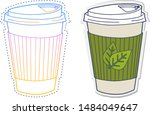 gradient line drawing and... | Shutterstock .eps vector #1484049647