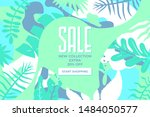 sale website banner. sale tag.... | Shutterstock .eps vector #1484050577