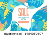 sale website banner. sale tag.... | Shutterstock .eps vector #1484050607