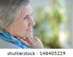 portrait of an older woman with ... | Shutterstock . vector #148405229