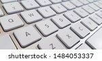 Macro Photo Of White Keyboard