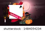 halloween sale  template for... | Shutterstock .eps vector #1484054234
