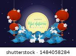 mid autumn festival design. can ... | Shutterstock .eps vector #1484058284