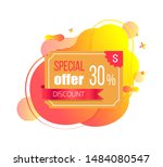 special offer discount 30... | Shutterstock .eps vector #1484080547