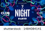 night club party blue abstract... | Shutterstock .eps vector #1484084141
