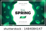 green nature banner background... | Shutterstock .eps vector #1484084147