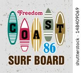 vector surf boards   summer...   Shutterstock .eps vector #148409069