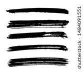 black vector brush strokes of... | Shutterstock .eps vector #1484091551