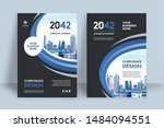 corporate book cover design... | Shutterstock .eps vector #1484094551