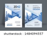 corporate book cover design... | Shutterstock .eps vector #1484094557