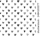seamless pattern with black... | Shutterstock .eps vector #1484103377