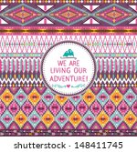 hipster seamless tribal pattern ... | Shutterstock .eps vector #148411745