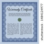 blue warranty template. vector... | Shutterstock .eps vector #1484124977