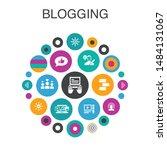 blogging infographic circle...