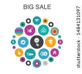 big sale infographic circle...