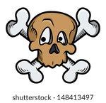 funny cute crossed skull tattoo ... | Shutterstock .eps vector #148413497