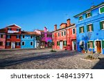 colorful houses in burano ... | Shutterstock . vector #148413971