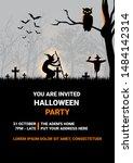 happy halloween. halloween... | Shutterstock .eps vector #1484142314