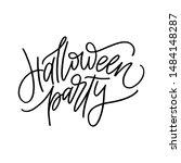 happy halloween emblem.... | Shutterstock .eps vector #1484148287