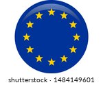 simple flag of european union. | Shutterstock . vector #1484149601