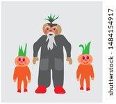 cartoon happy character  onion...