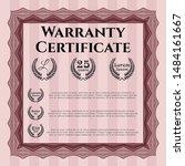 red vintage warranty template.... | Shutterstock .eps vector #1484161667