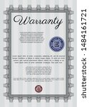 grey warranty certificate... | Shutterstock .eps vector #1484161721