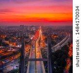A view of KR Puram bridge in banglore