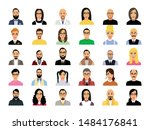 set of men and women in various ... | Shutterstock .eps vector #1484176841