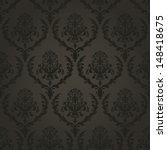 dark vintage wallpaper seamless   Shutterstock .eps vector #148418675