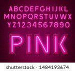 neon glowing pink 3d letters...