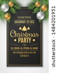 flyer for christmas party.... | Shutterstock .eps vector #1484201951
