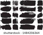 set of black brush strokes with ...   Shutterstock .eps vector #1484206364