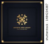 artistic and luxury logo. can... | Shutterstock .eps vector #1484234387