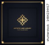 artistic and luxury logo. can... | Shutterstock .eps vector #1484234417