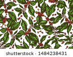 seamless vector pattern with... | Shutterstock .eps vector #1484238431