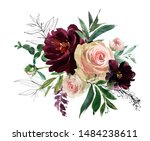 blush wine colors watercolor... | Shutterstock . vector #1484238611
