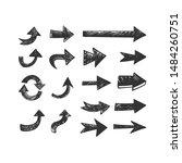 hand drawn arrows set. doodle...   Shutterstock .eps vector #1484260751