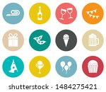 birthday party icons   vector... | Shutterstock .eps vector #1484275421