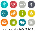 birthday party icons   vector... | Shutterstock .eps vector #1484275427